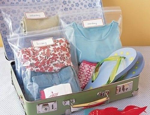 Organiserad barnresväska