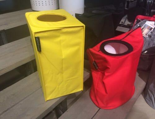 Funktionell och färgglad tvättkorg