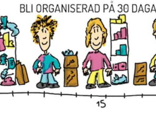 """Så gick det i """"Bli organiserad på 30 dagar"""" 2015"""