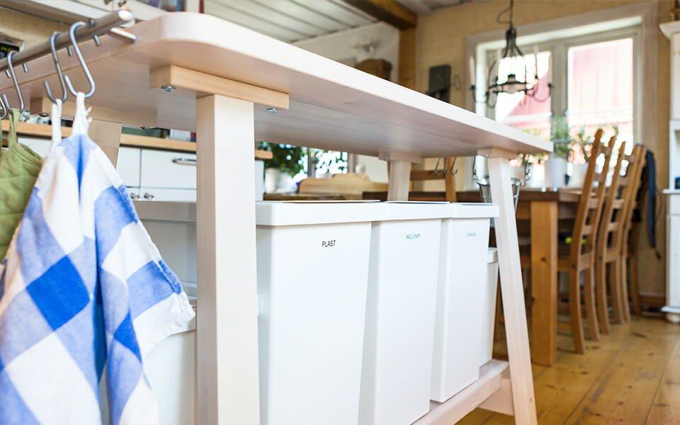 Håll rent i köket med rätt förvaring av källsortering