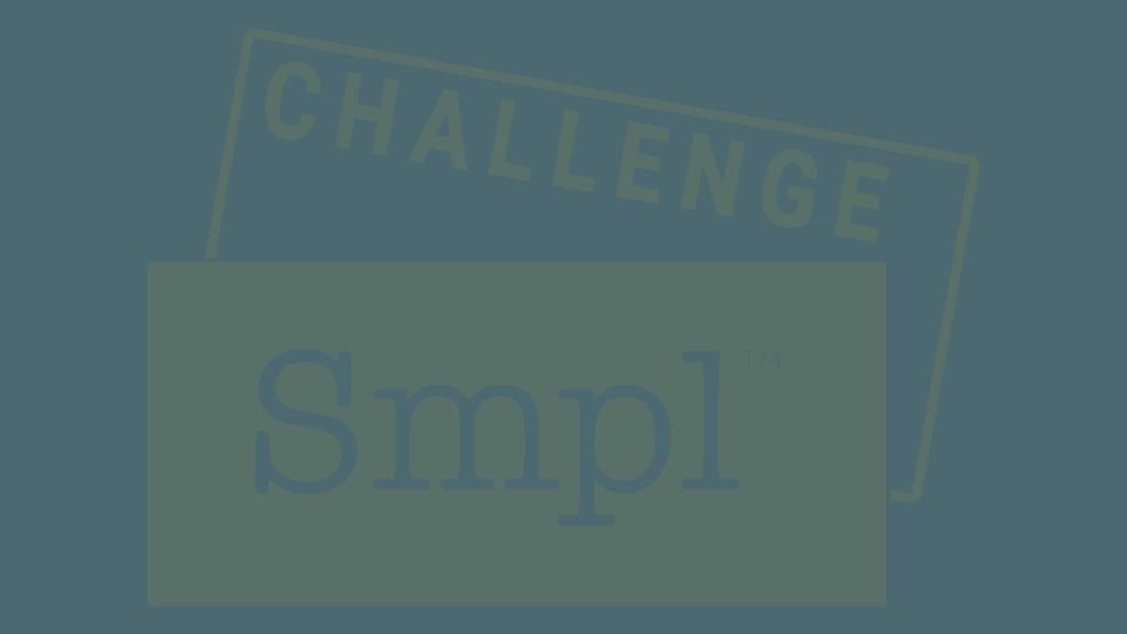 Smpl Challenge: Hållbart liv logo