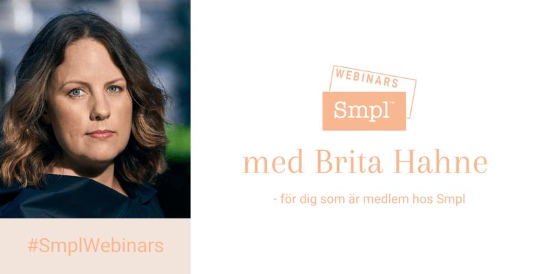 Webinar med Brita Hahne