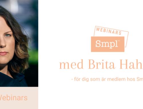 Webinar med Brita Hahne – Om hälsa från 14 oktober 2019