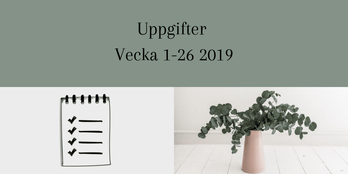 Smpl uppgifter för vecka 1-26 2019