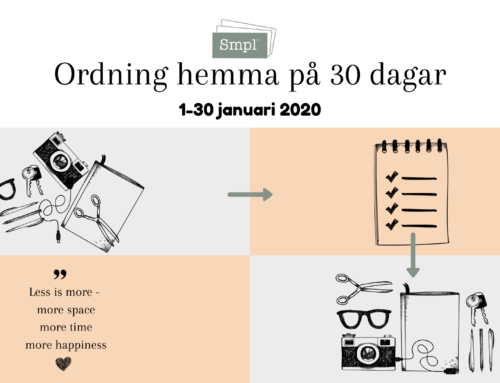 Sista utmaningen Ordning hemma på 30 dagar – start onsdag 1 januari 2020