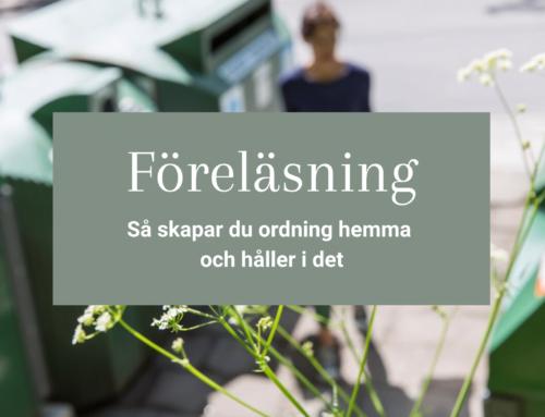 Föreläsning i Nybro – Så skapar du ordning hemma