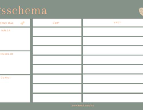 Strukturera din dag med Smpl:s dagsschema