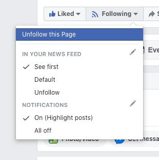 Aviseringar Facebook Social media