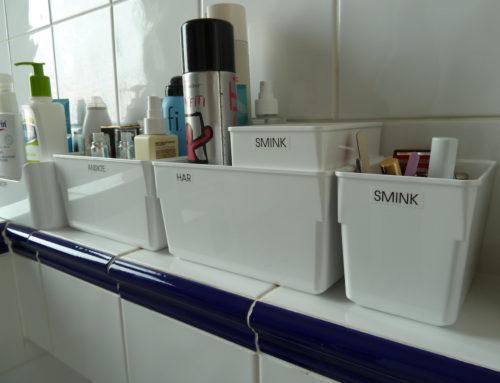 Skapa ordning i badrummet – Så kommer du igång