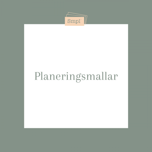 Planeringsmallar